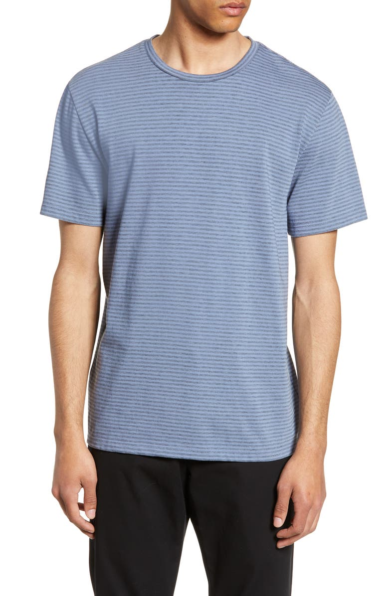 Vince Slim Fit Shadow Stripe T Shirt