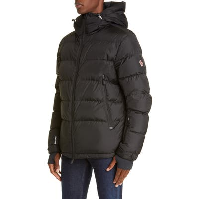 Moncler Grenoble Isorno Hooded Nylon Puffer Jacket, Black