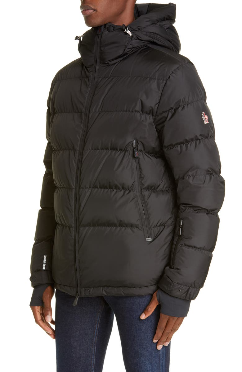 MONCLER GRENOBLE Isorno Hooded Nylon Puffer Jacket, Main, color, BLACK