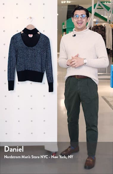 metallic sweater, sales video thumbnail