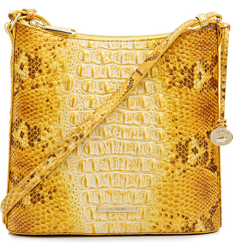 BRAHMIN Katie Croc Embossed Leather Crossbody Bag, Main, color, 700