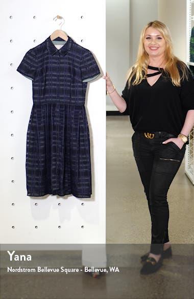 Mackenzie Windowpane Jacquard Shirtdress, sales video thumbnail
