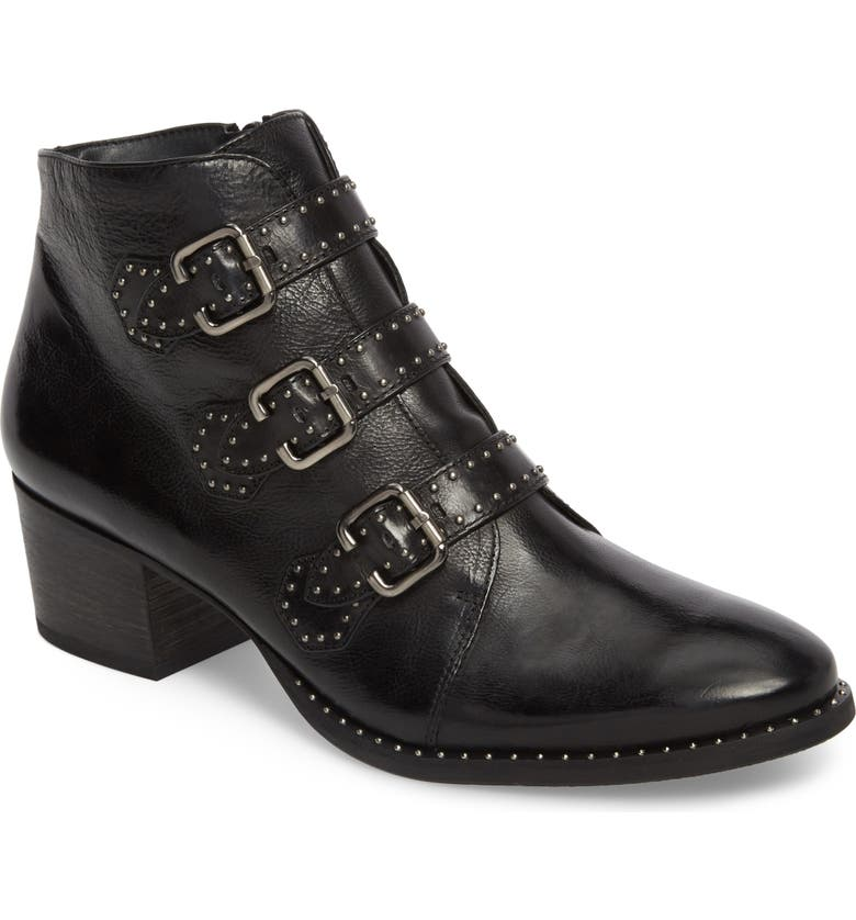 PAUL GREEN Soho Bootie, Main, color, BLACK LEATHER