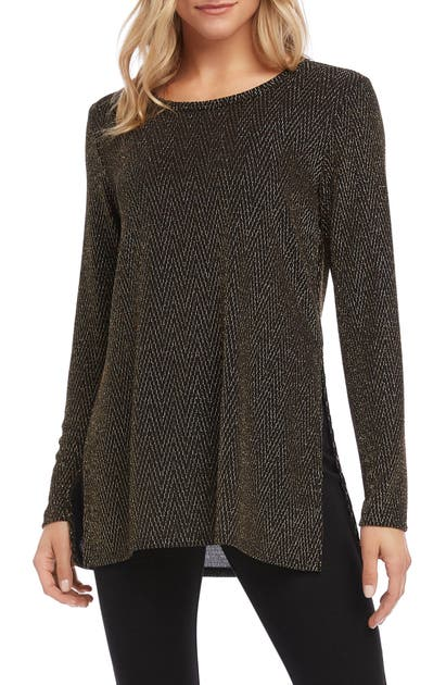 Karen Kane Knits GOLD SPARKLE KNIT TOP