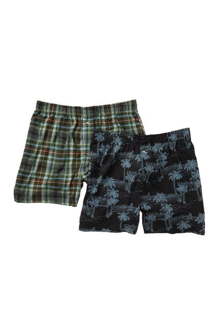 Image of Tommy Bahama Scenic Plaid Lines Boxer Set