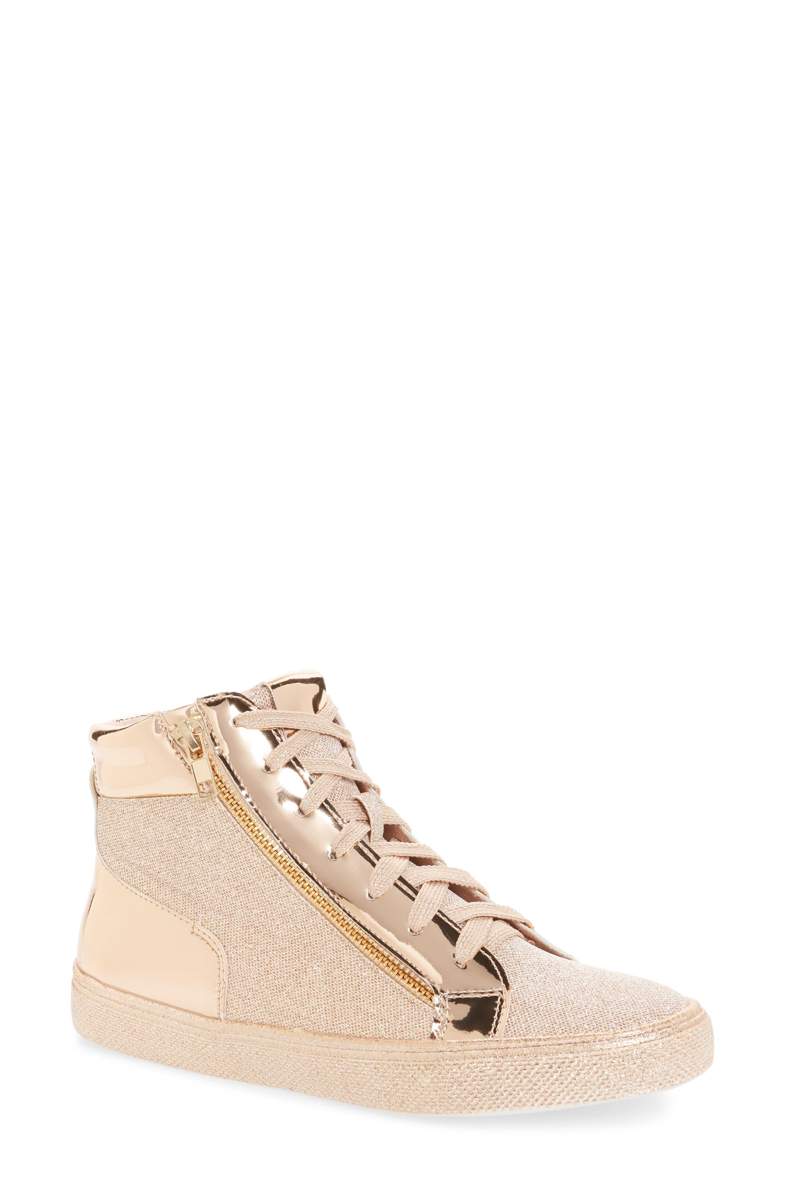 Lauren Lorraine Skippy High Top Sneaker, Pink