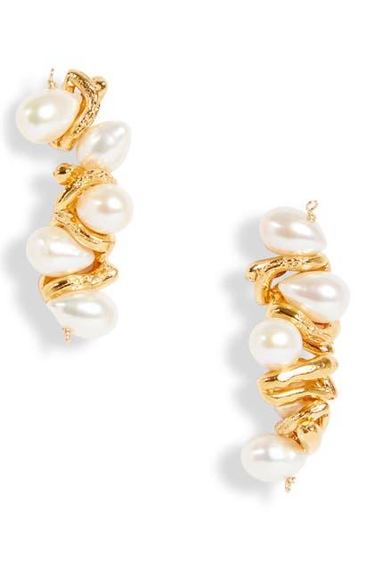 Alighieri Earrings LA CALLIOPE GENUINE PEARL EARRINGS