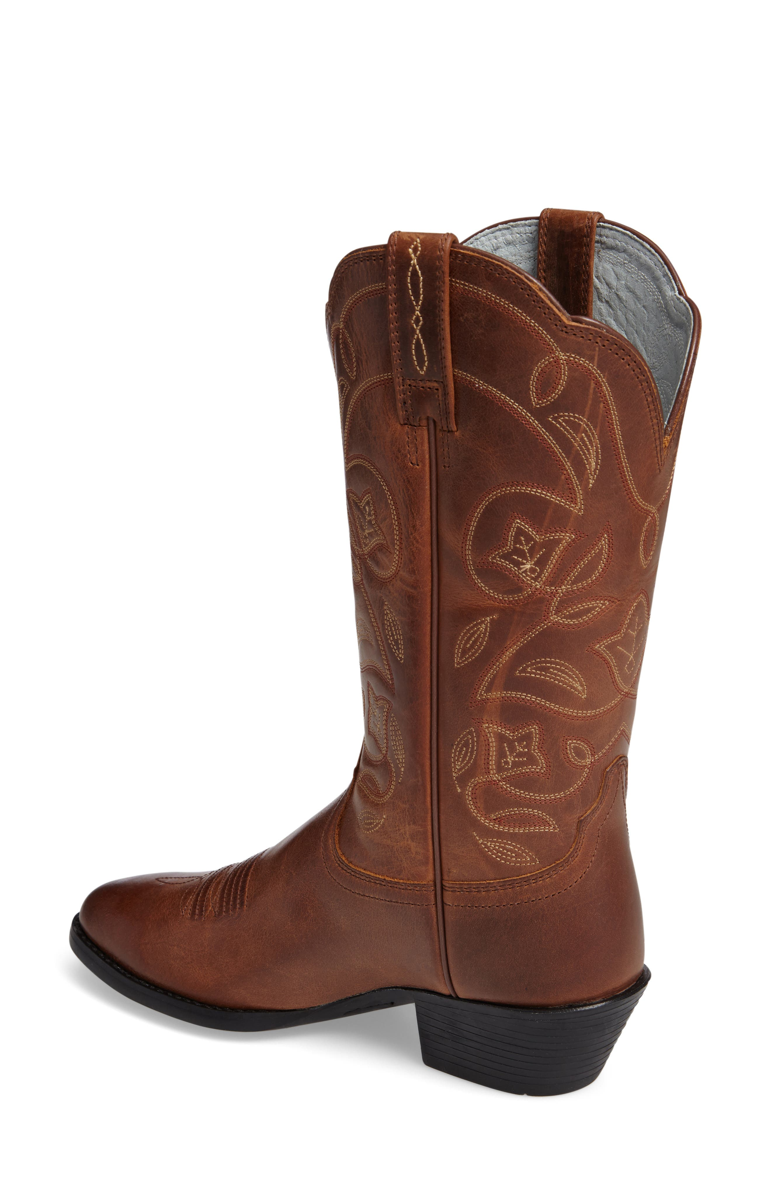 ,                             Heritage Western R-Toe Boot,                             Alternate thumbnail 2, color,                             RUSSET REBEL LEATHER