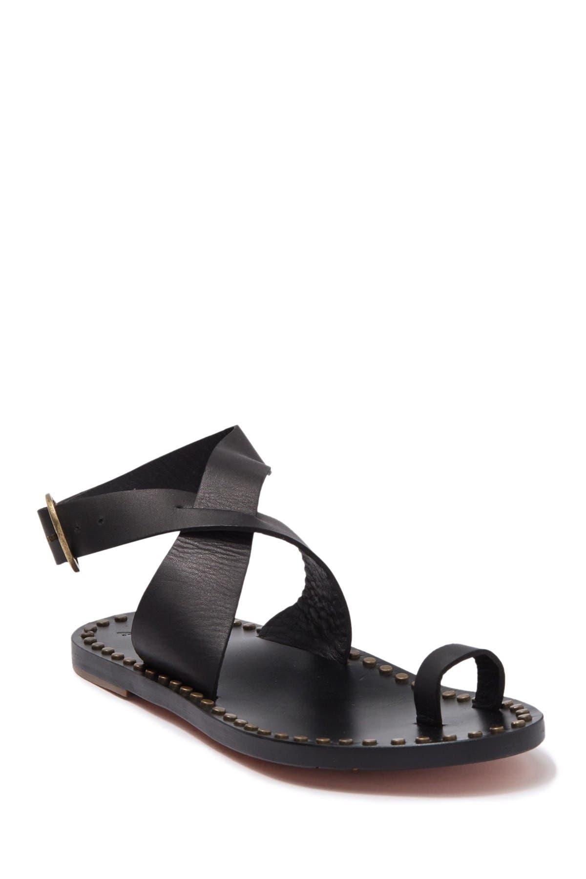 Image of BEEK Crossed Ankle Strap Toe Loop Sandal
