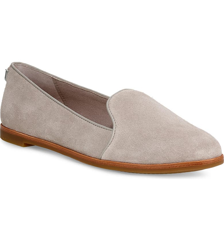 UGG<SUP>®</SUP> Bonnie Loafer Flat, Main, color, OYSTER SUEDE