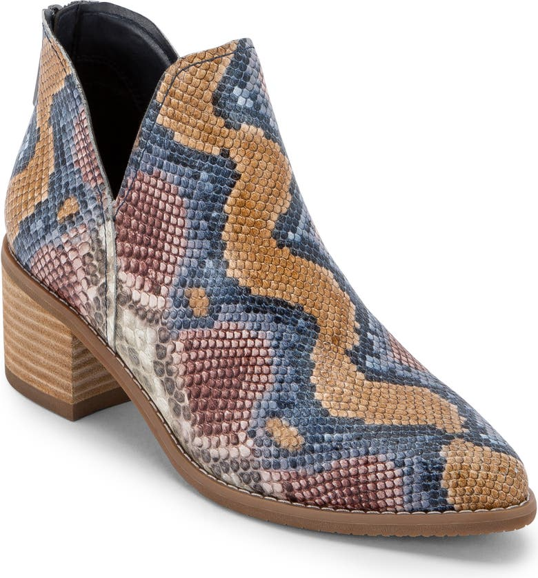 BLONDO Esme Waterproof Bootie, Main, color, MULTICOLOR SNAKE PRINT LEATHER