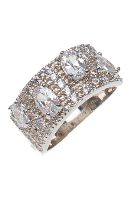 Image of CZ By Kenneth Jay Lane Oval CZ Band Ring