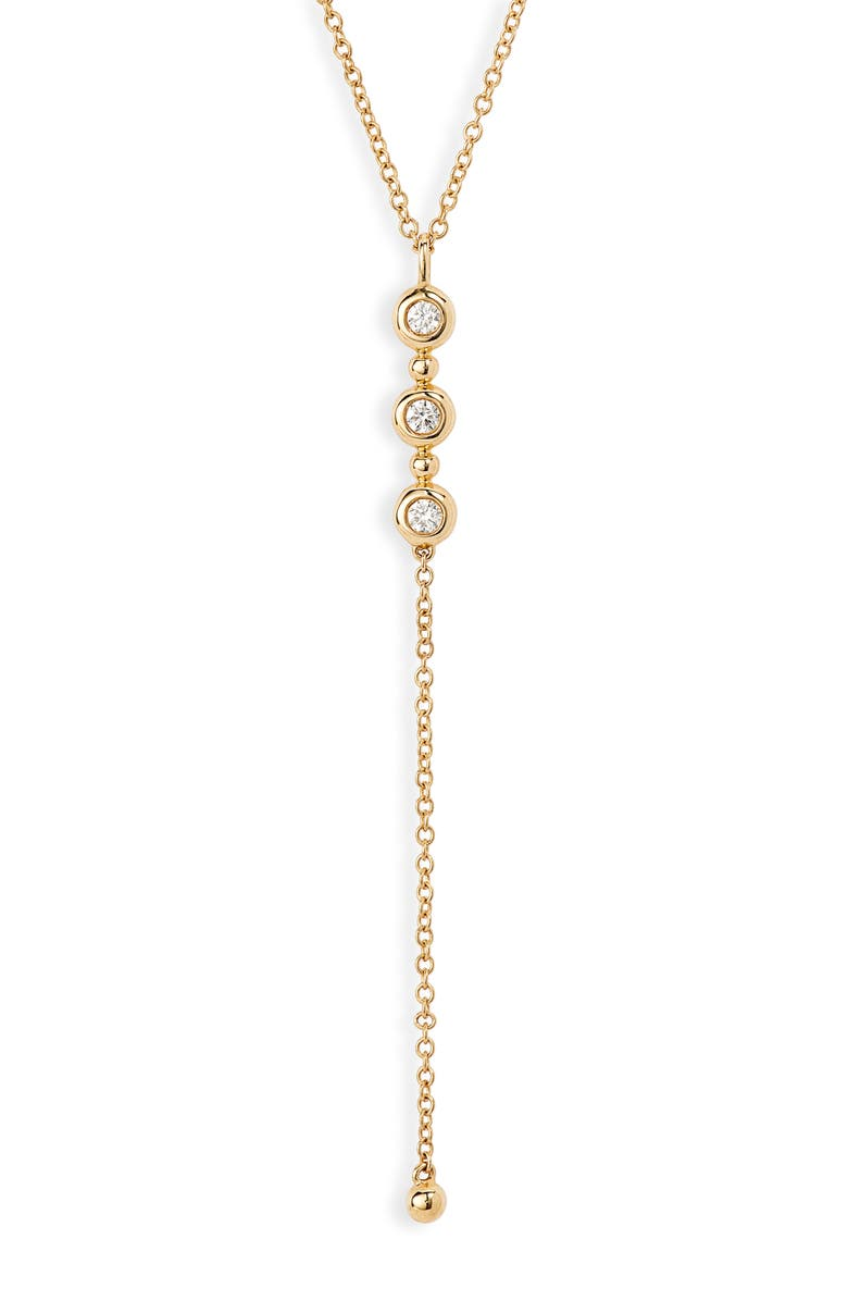 BONY LEVY Monaco Diamond Y-Necklace, Main, color, YELLOW GOLD/ DIAMOND