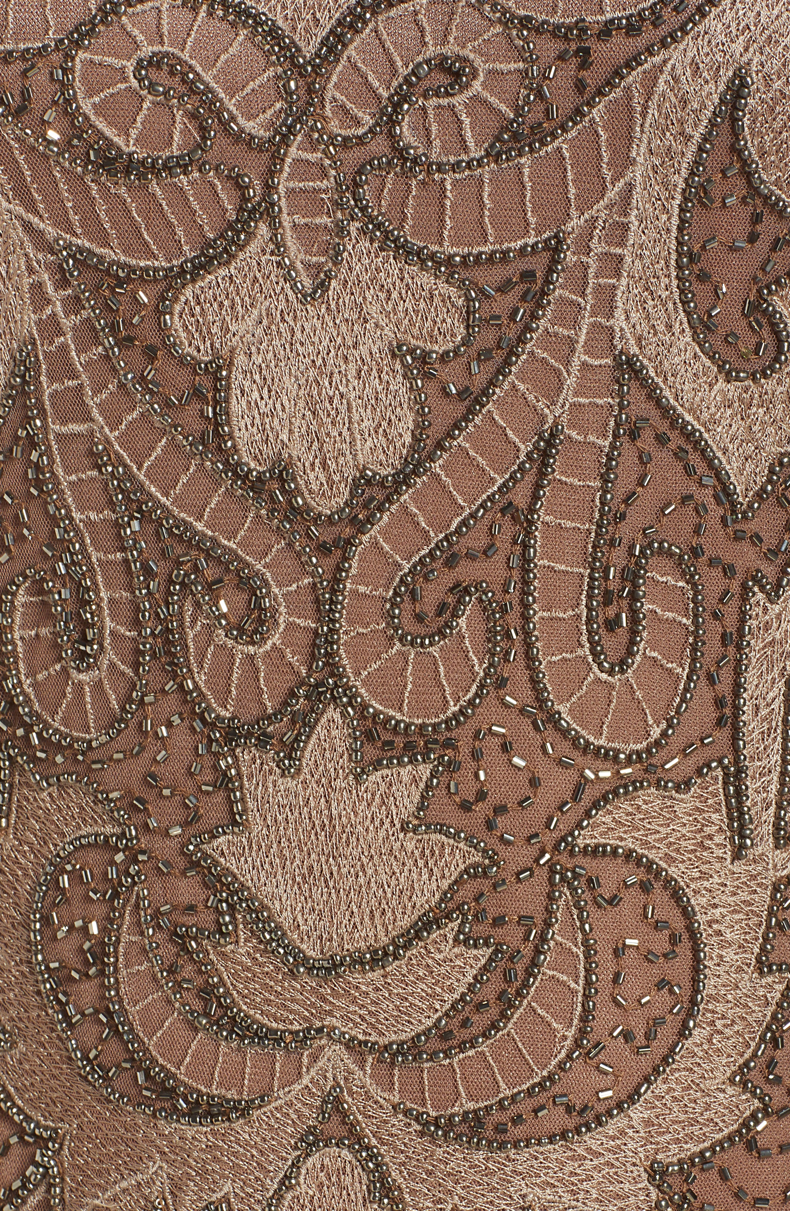 ,                             Embroidered Mesh Gown,                             Alternate thumbnail 8, color,                             MOCHA