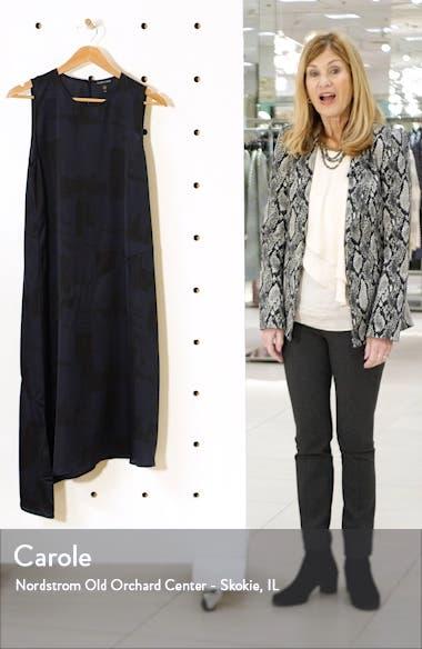 Asymmetrical Silk & Organic Cotton Midi Dress, sales video thumbnail