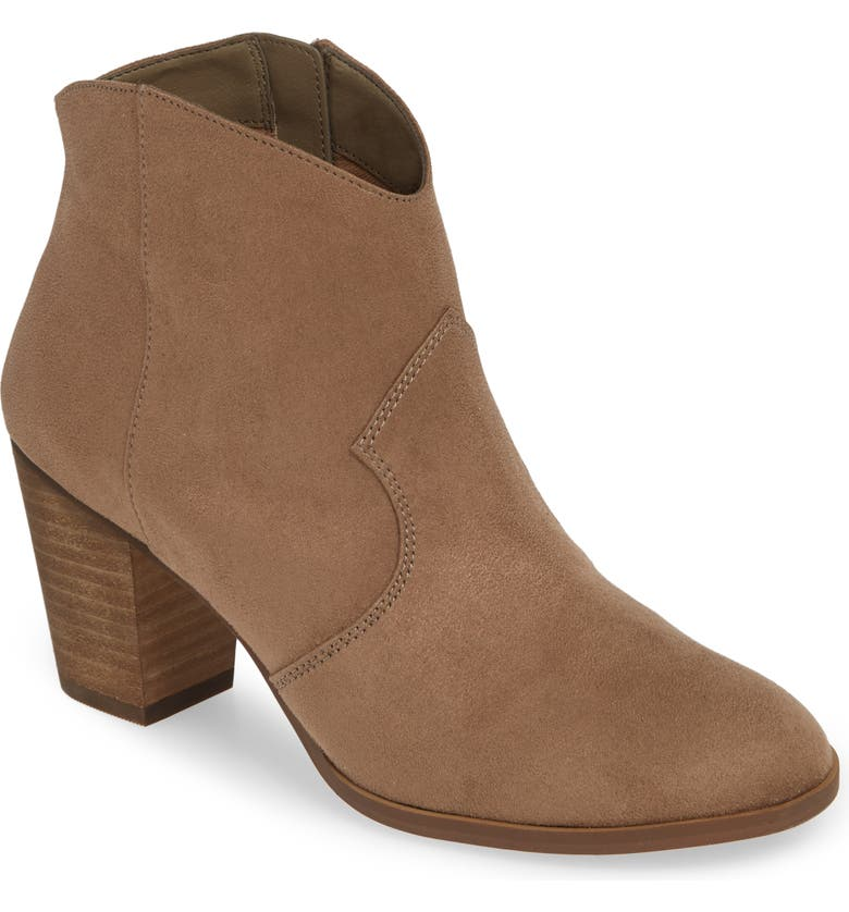 BP. Nolly Bootie, Main, color, TAUPE FAUX SUEDE