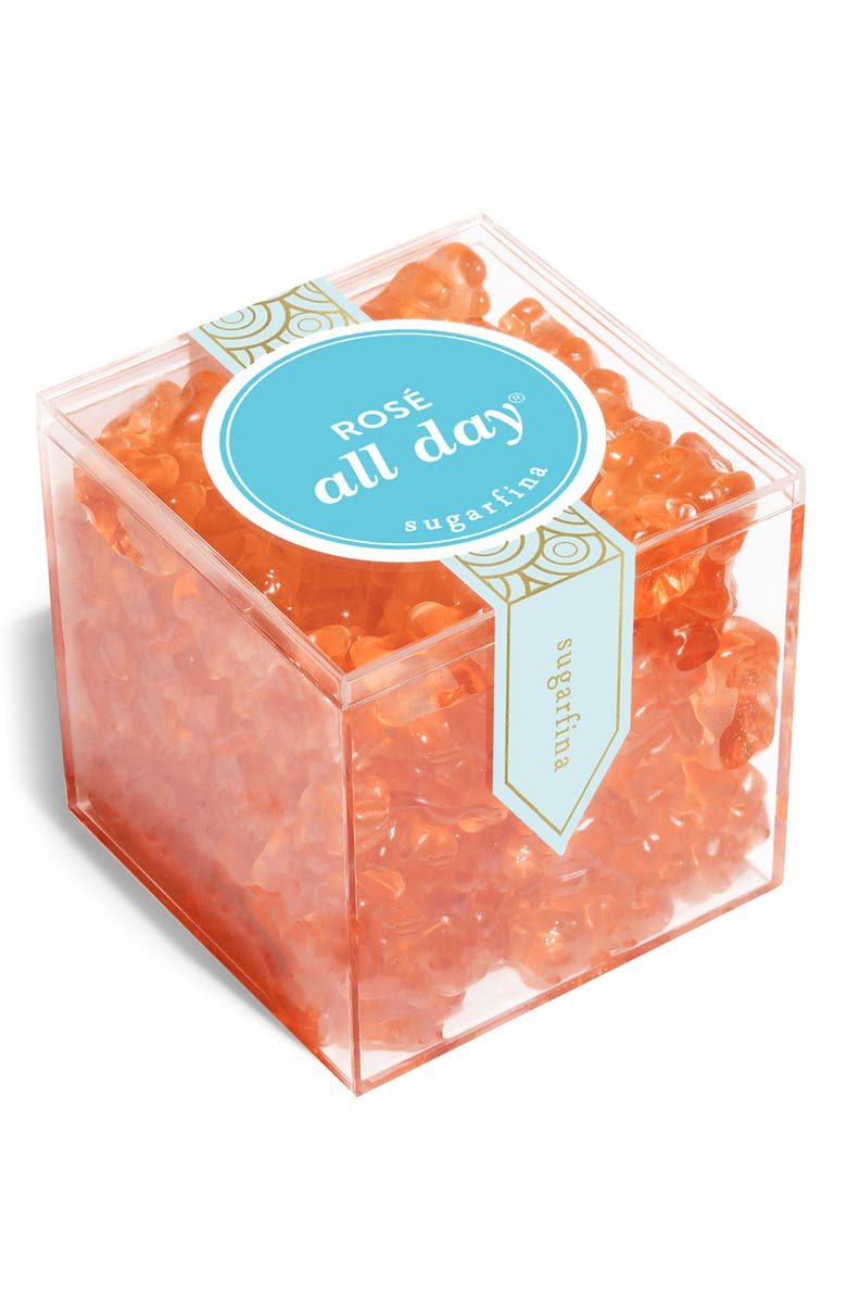 SUGARFINA Rosé All Day Bears Large Candy Cube, Main, color, ROSE ALL DAY