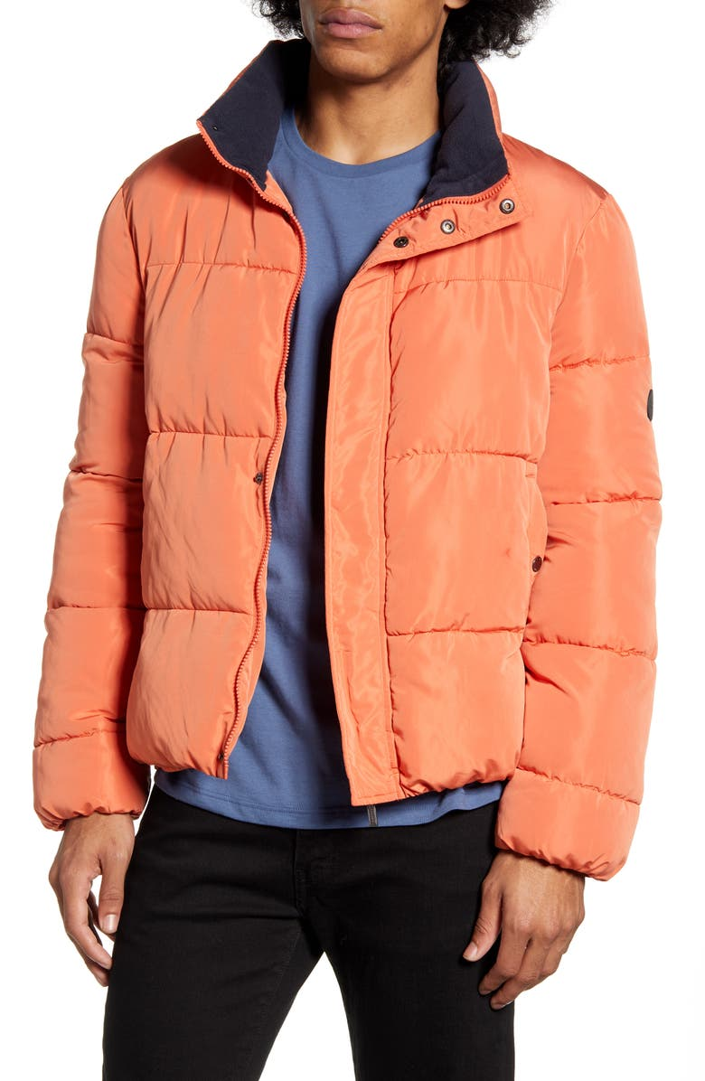 NATIVE YOUTH Scout Puffer Jacket, Main, color, RUST