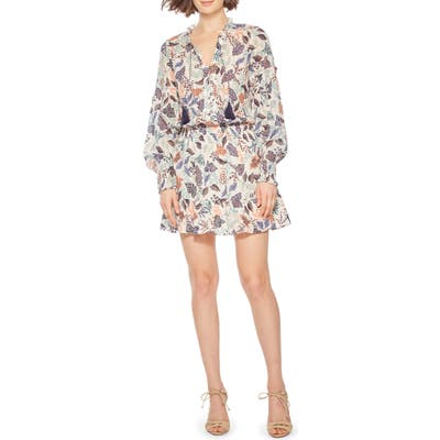 Parker Laura Long Sleeve Minidress, Blue