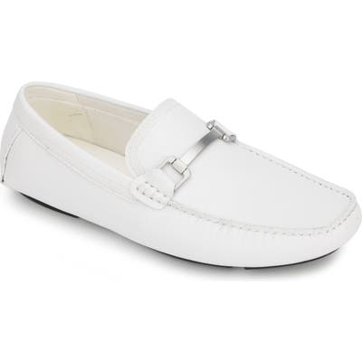 Reaction Kenneth Cole Sound Driving Loafer, White