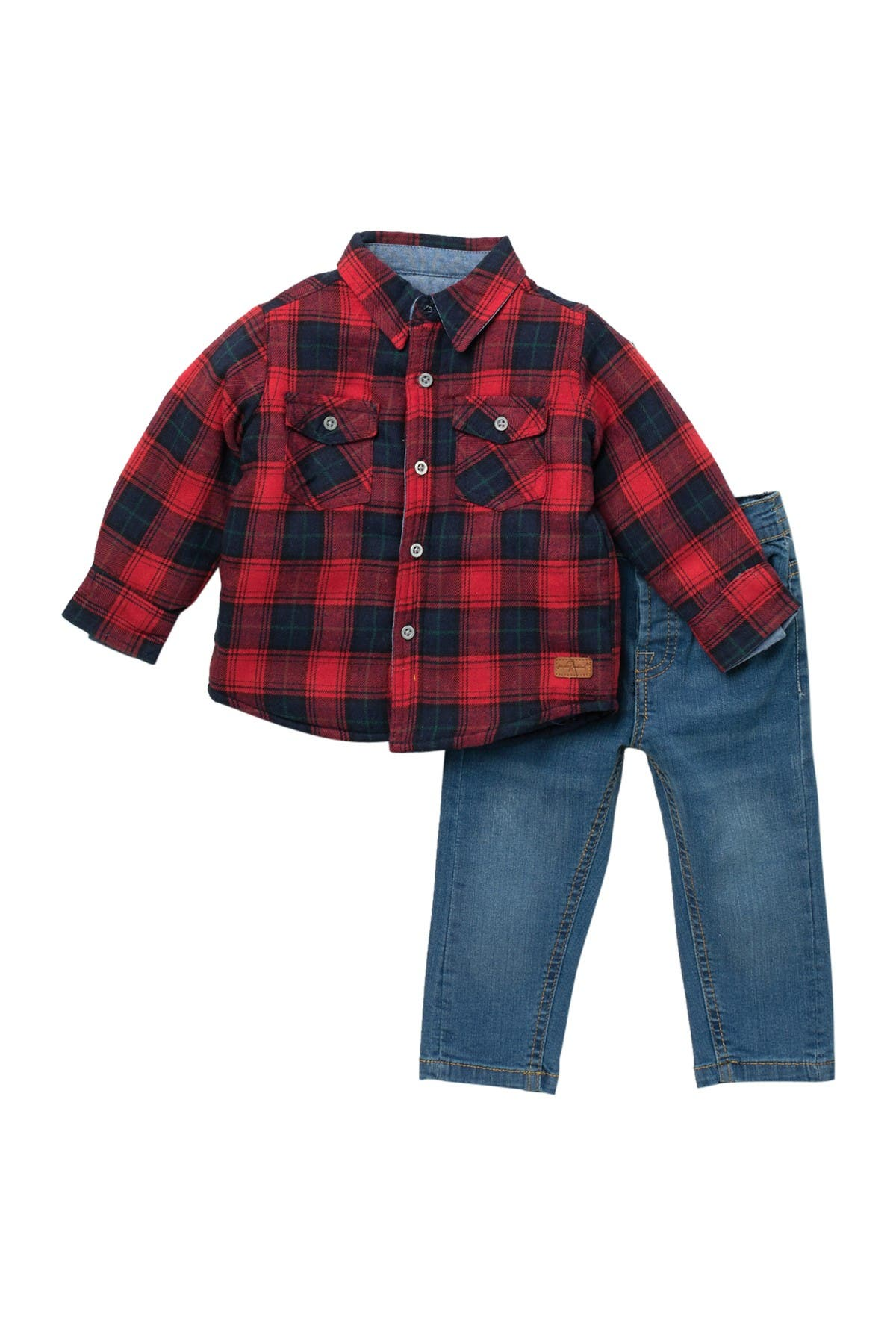 Image of 7 For All Mankind Flannel & Jeans Set