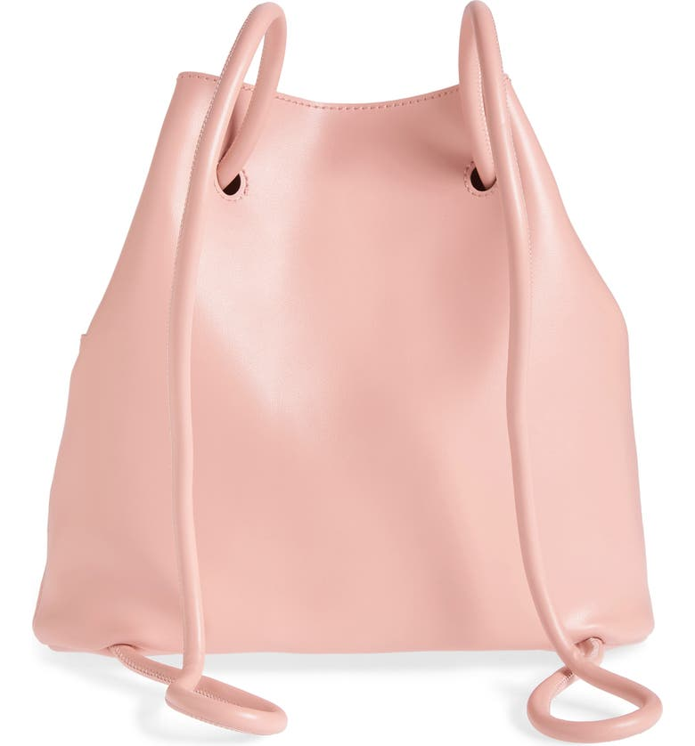 BP. Faux Leather Drawstring Backpack, Alternate, color, PINK ROSECLOUD METALLIC