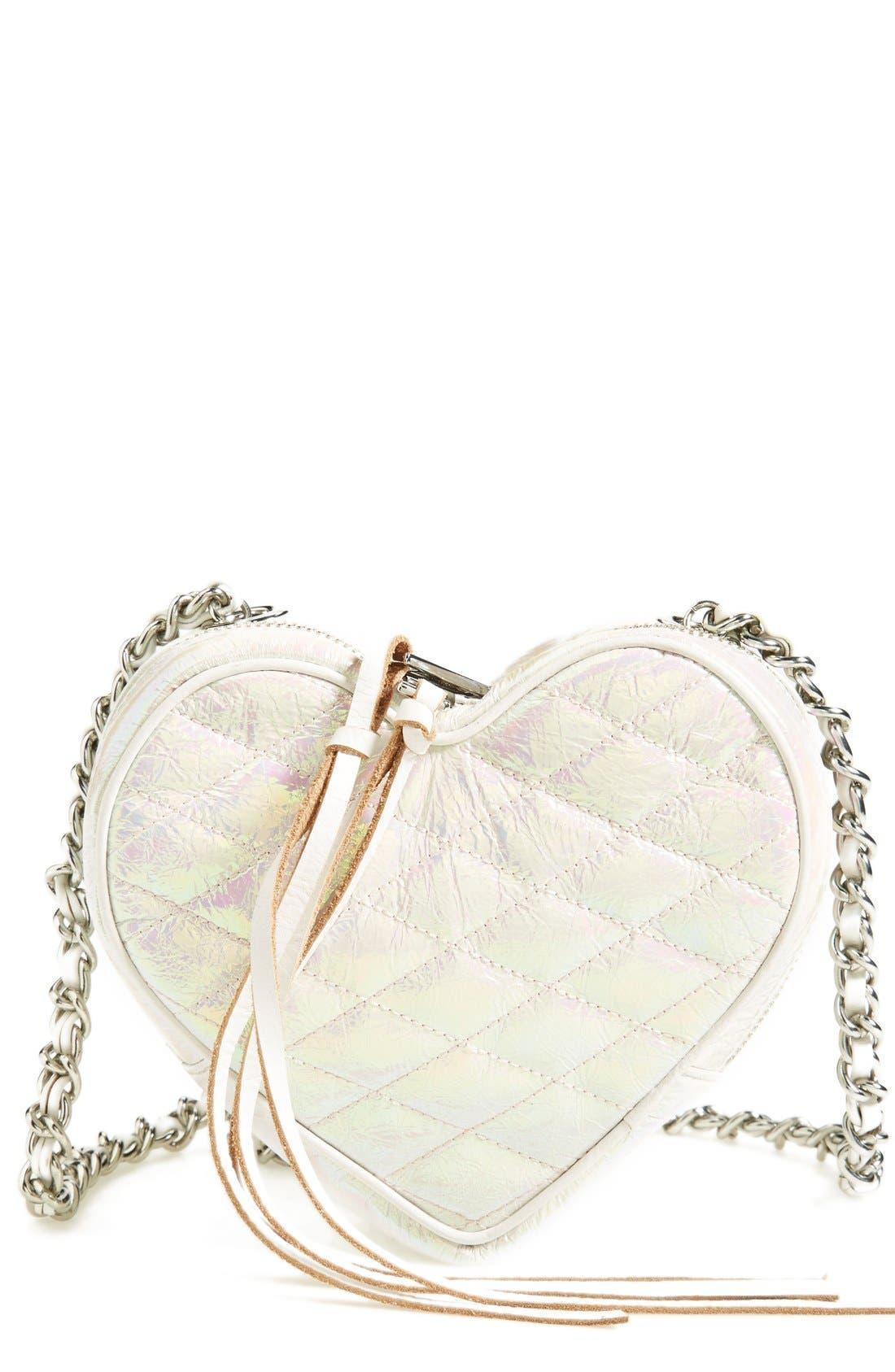 Heart Crossbody Bag, Main, color, 100