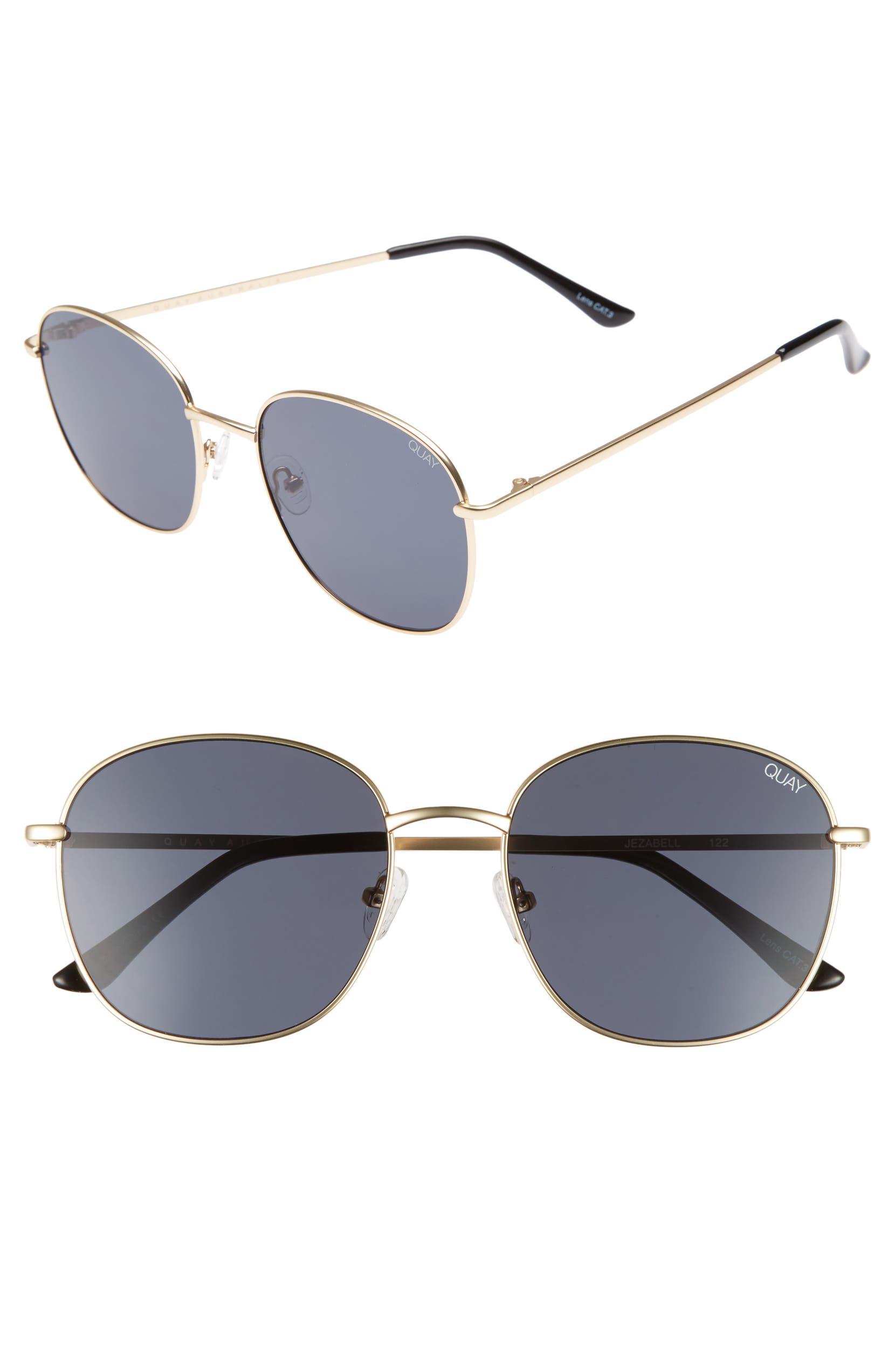 d87f664e15a5 Quay Australia Jezabell 57mm Round Sunglasses | Nordstrom
