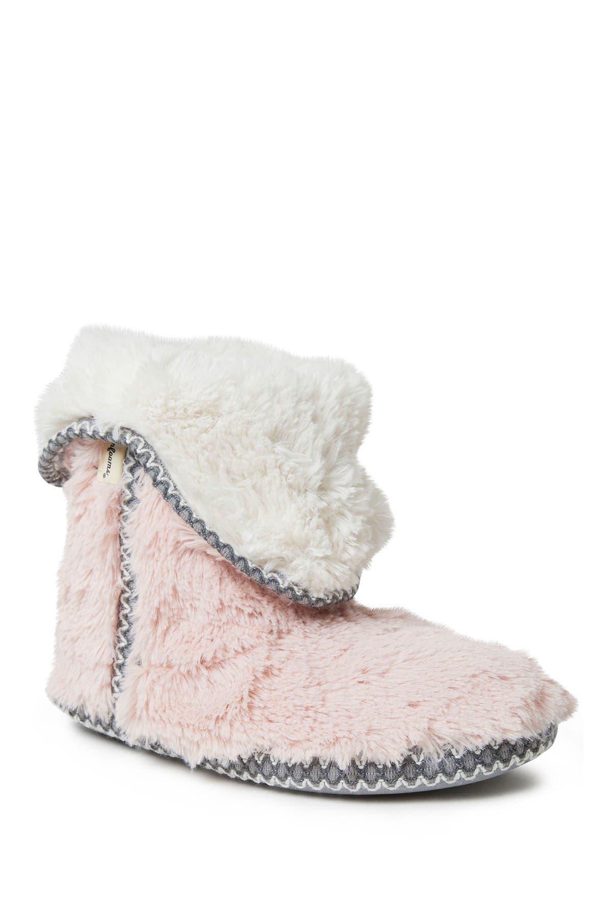 Image of Dearfoams Plush Faux Fur Bootie Slipper