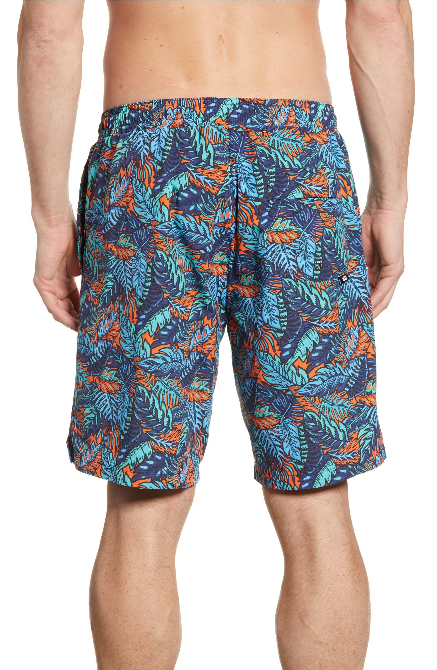 aec9fe3756 SAXX Tropics Print Cannonball Swim Trunks   Nordstrom