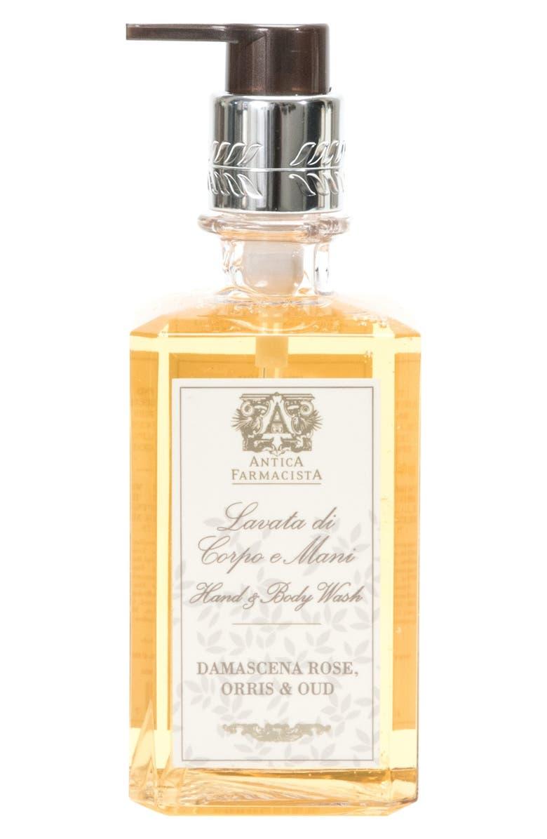 ANTICA FARMACISTA Damascena Rose, Orris & Oud Hand Wash, Main, color, NO COLOR