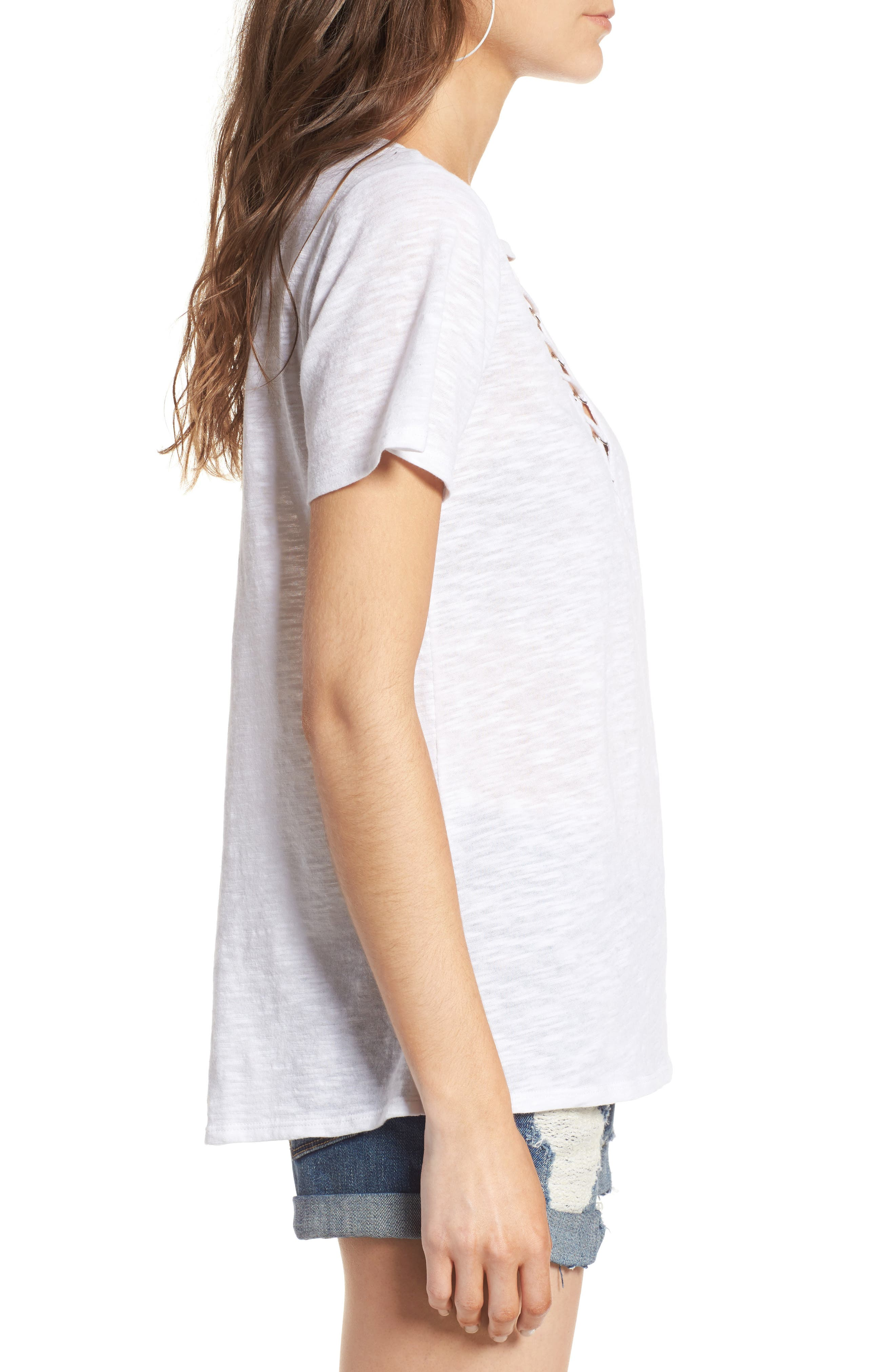 ,                             Grommet Lace-Up Tee,                             Alternate thumbnail 47, color,                             900