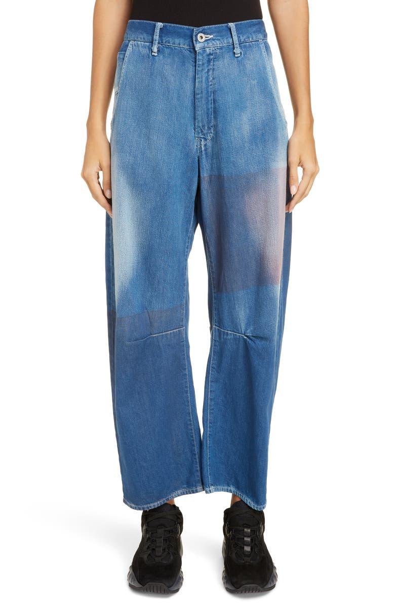 Dye Patch Wide Leg Jeans by Y's By Yohji Yamamoto