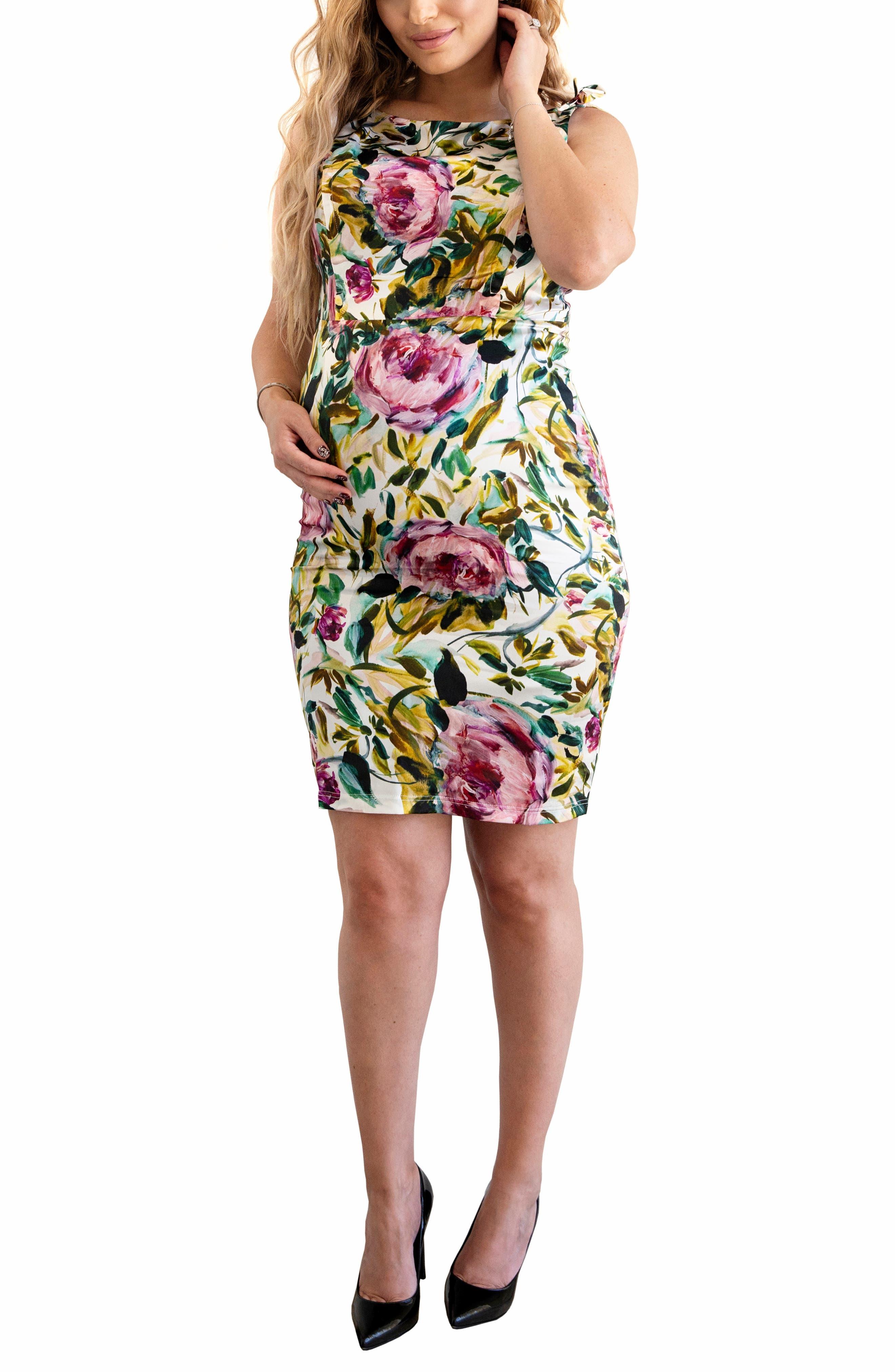 Elizabeth Floral Silk Blend Sheath Dress