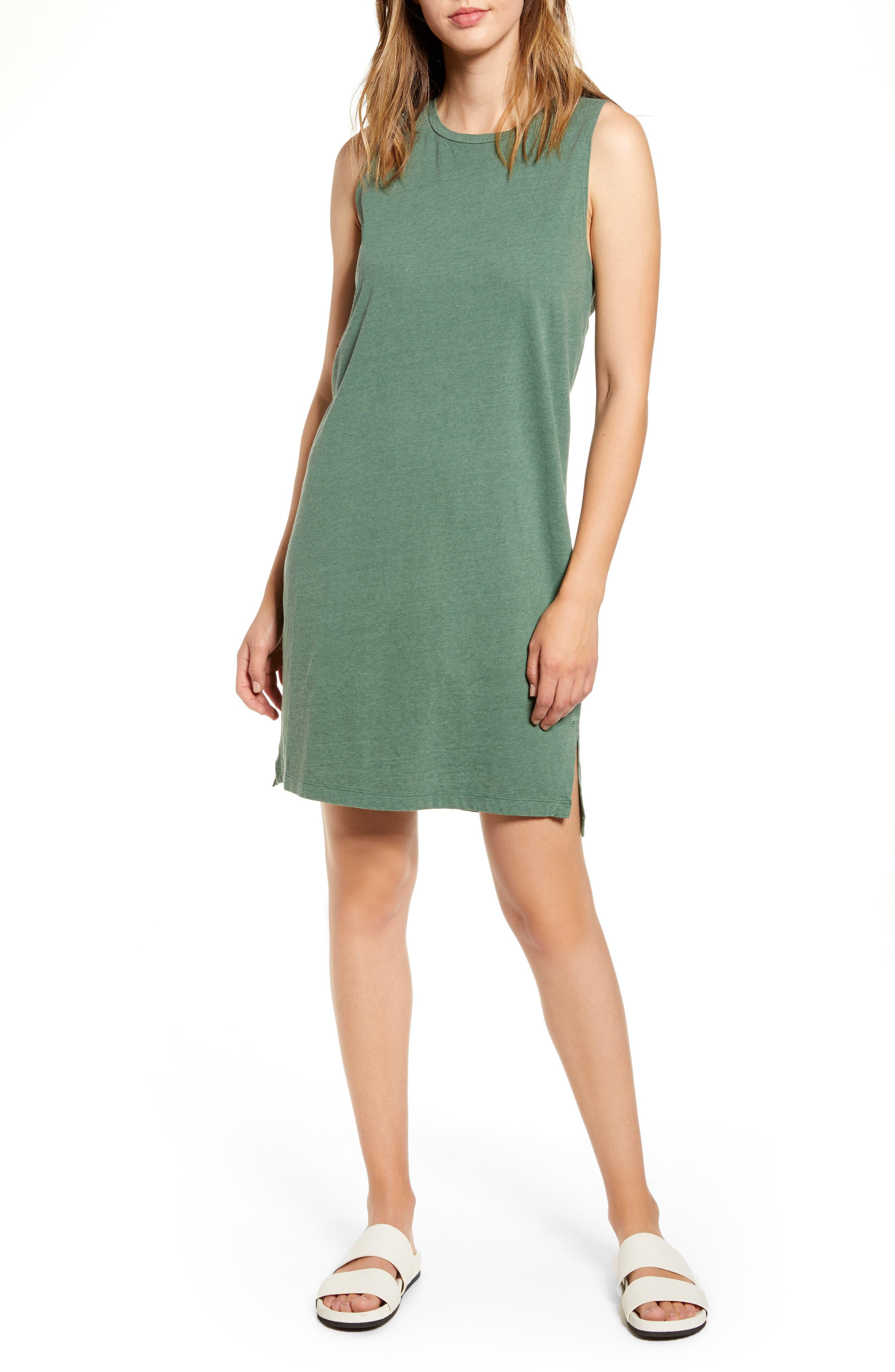 Lou & Grey Softserve Slub Tank Dress, Green