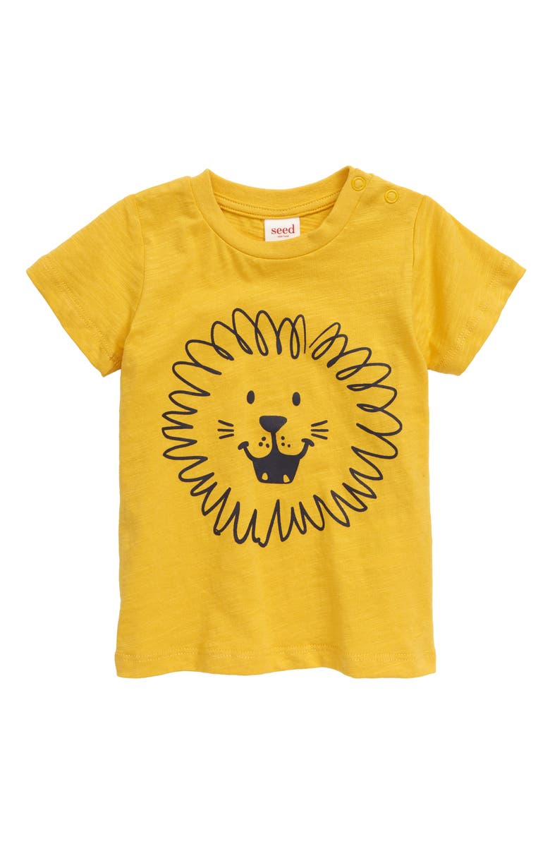 SEED HERITAGE Lion Graphic T-Shirt, Main, color, 700