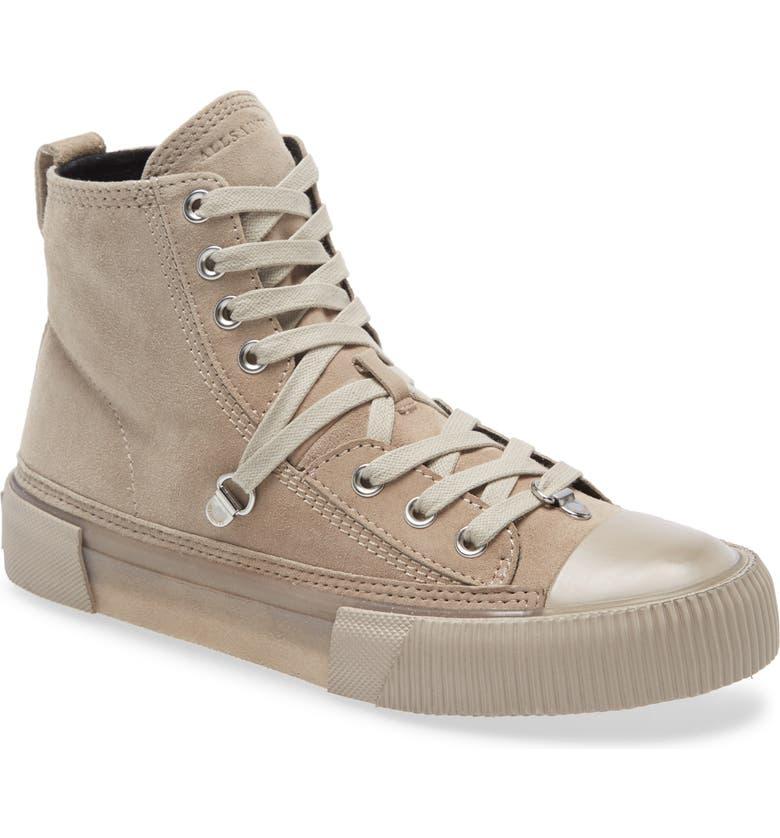 ALLSAINTS Elena Bracket High Top Sneaker, Main, color, STONE SUEDE