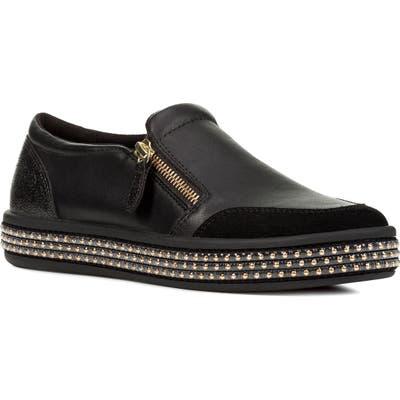 Geox Leelu Slip-On Sneaker, Black