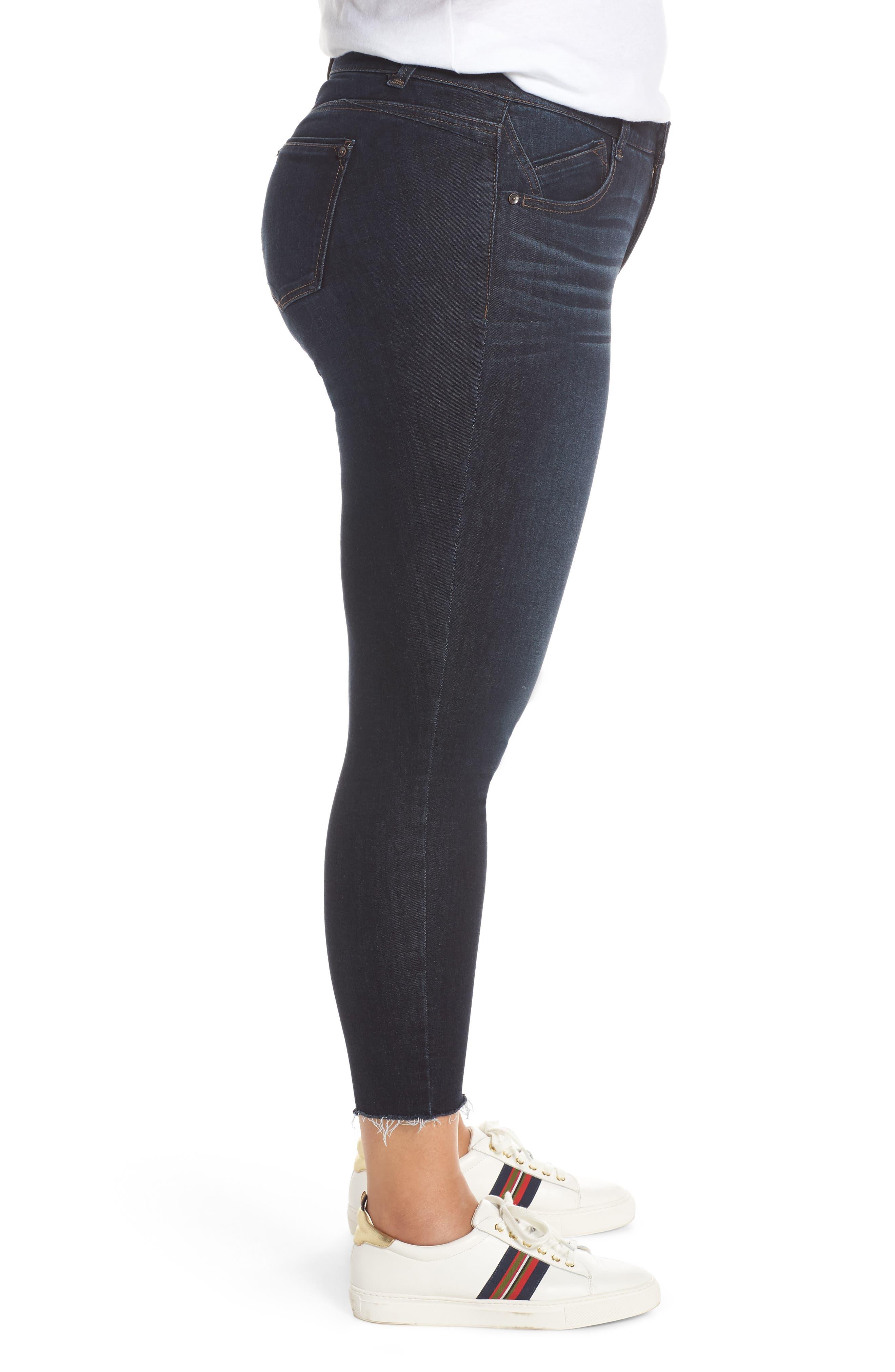 ,                             Ab-Solution High Waist Ankle Skinny Jeans,                             Alternate thumbnail 4, color,                             INDIGO