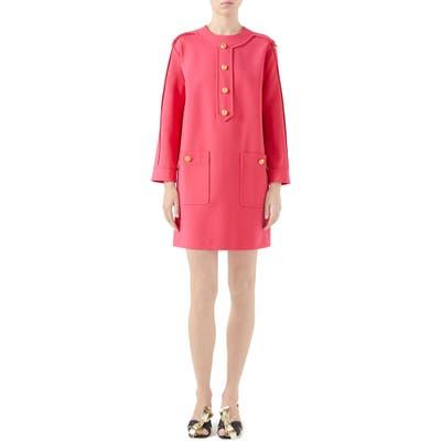 Gucci Compact Jersey Shift Dress, Pink