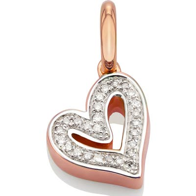 Monica Vinader Alphabet Heart Diamond Pendant Charm