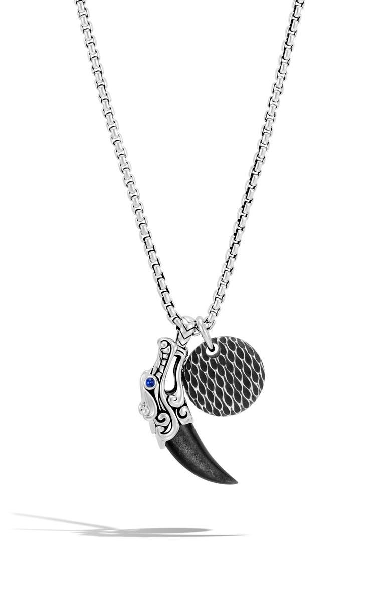 JOHN HARDY Men's Legends Naga Charm Necklace, Main, color, SILVER