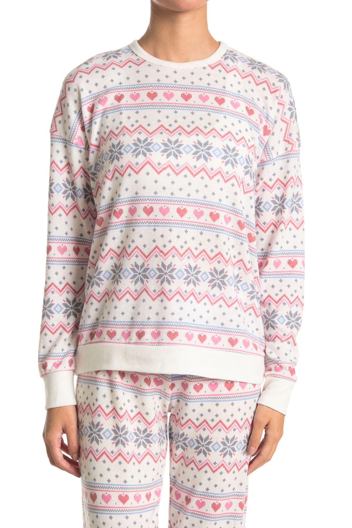 PJ SALVAGE Fair Isle Long Sleeve Pajama Top