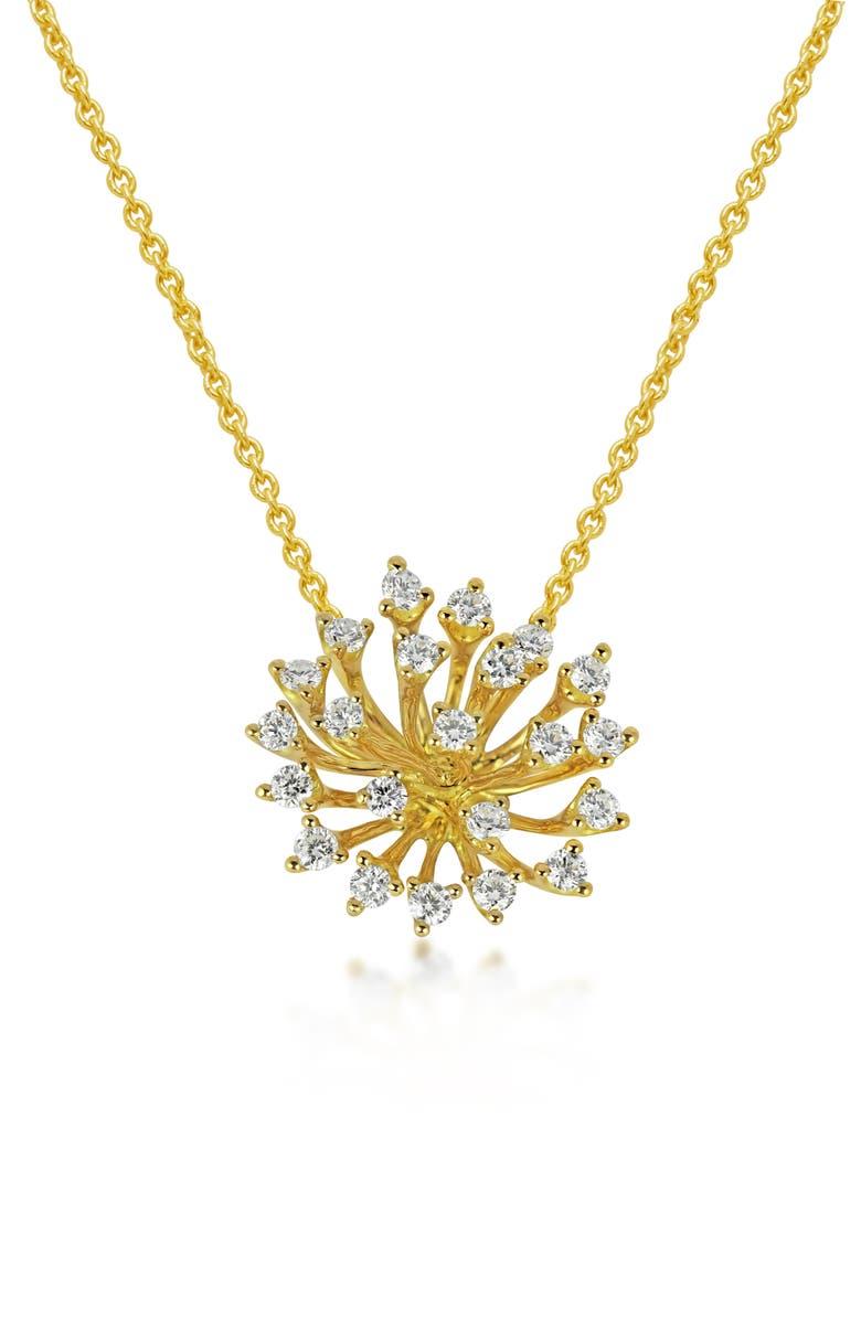 HUEB Luminus Large Pendant Necklace, Main, color, YELLOW GOLD
