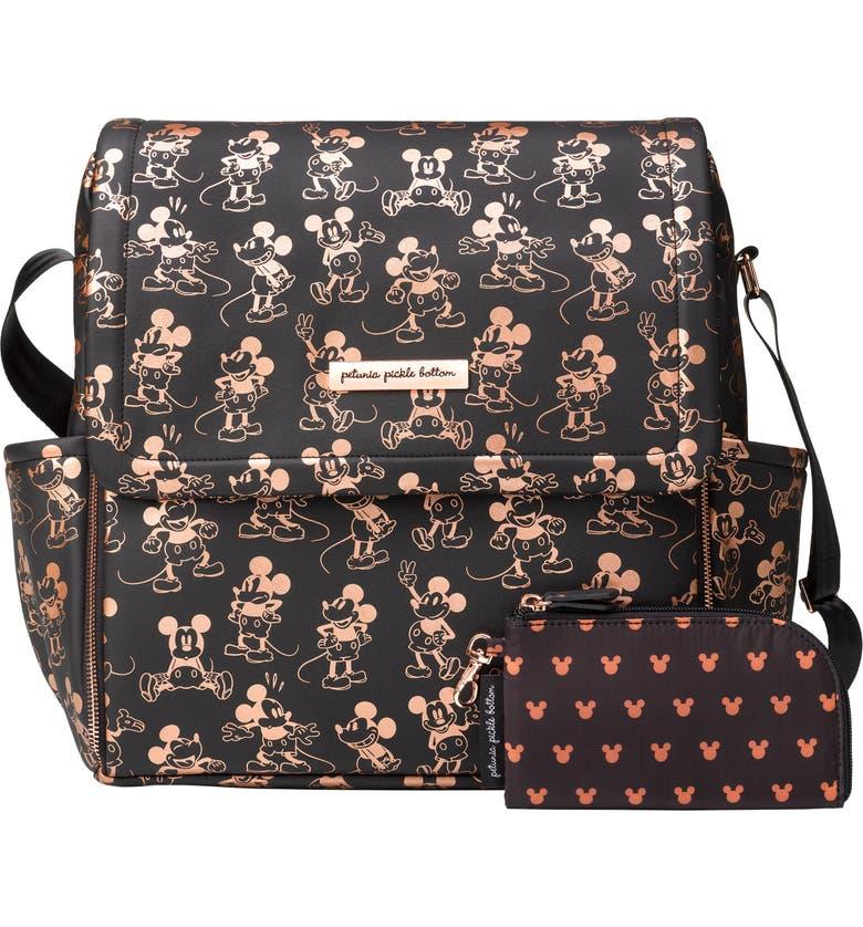 PETUNIA PICKLE BOTTOM x Disney Mickey Mouse Boxy Diaper Bag, Main, color, METALLIC MICKEY MOUSE