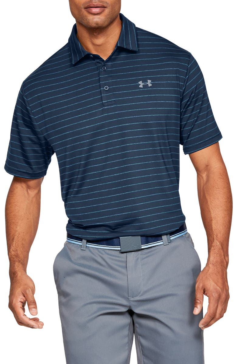 UNDER ARMOUR Playoff 2.0 Loose Fit Polo, Main, color, ACADEMY / / PITCH GRAY