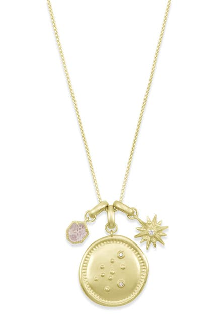 Image of Kendra Scott 14K Gold Plated Aquarius Charm Necklace