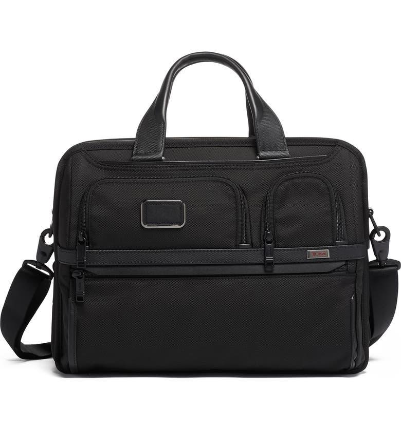 TUMI Alpha 3 T-Pass<sup>®</sup> Expandable Laptop Briefcase, Main, color, BLACK