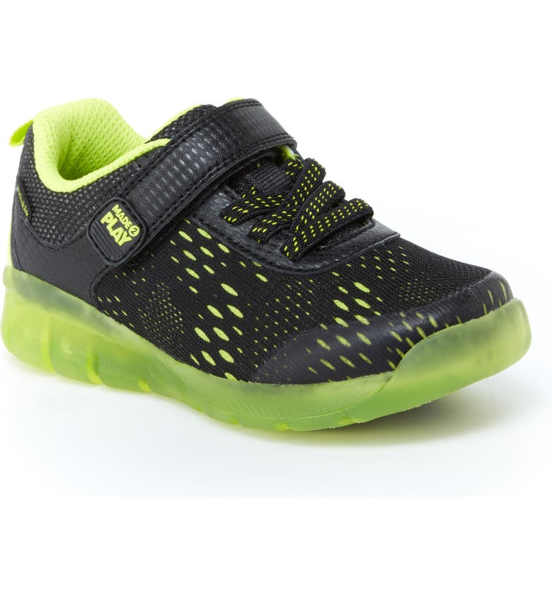 STRIDE RITE Made2Play<sup>®</sup> Neo Light-Up Sneaker, Main, color, 002