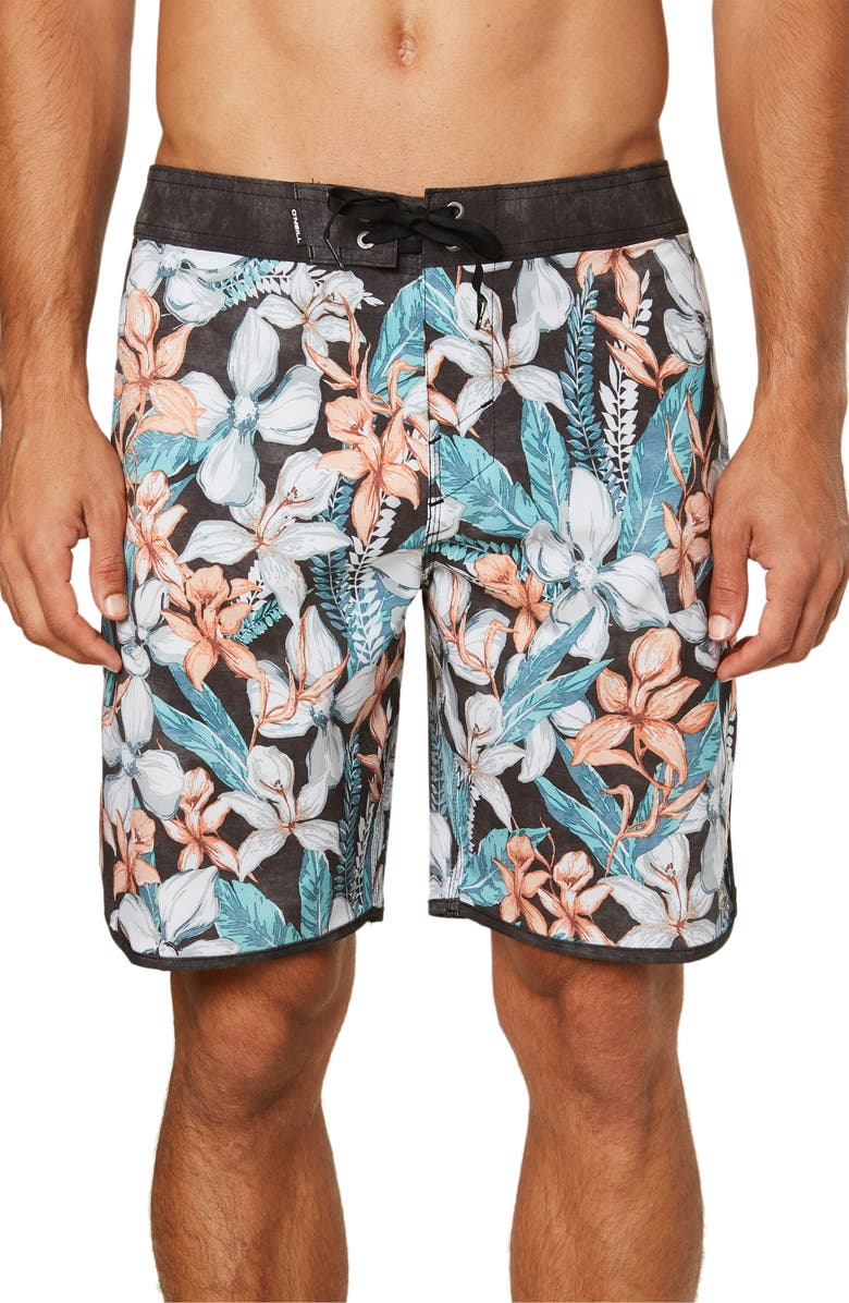 O'NEILL Hyperfreak Plate Lunch Board Shorts, Main, color, BLACK